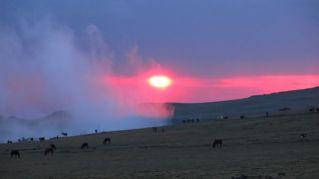 Sunset at Geech Camp