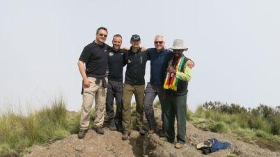 Mike, Doc, Tony, Charlie and Tony on Imet Gogo summit