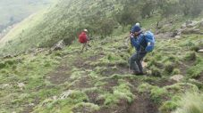 Descending to Chenek Camp