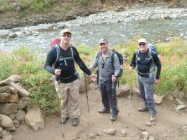 Mike, Ant and Charlie after river crossing