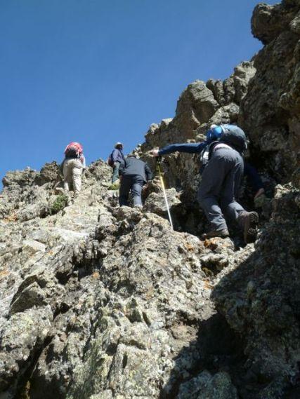 Final scramble to summit