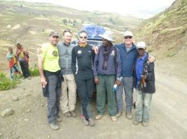 Ant, Mike, Tony, Dejen, Charles and Scout after descending Ras Dashen